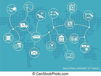 sachen, industrie, (iot), internet