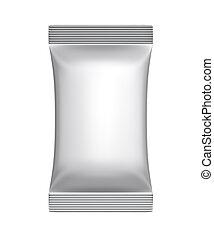 Sachet bag package - Grey sachet bag package isolated on ...