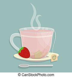 sachet, moranguinho, chá