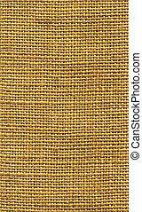 Close-up of a piece of sack cloth