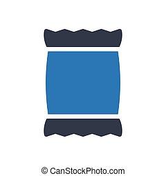 sack glyph color icon