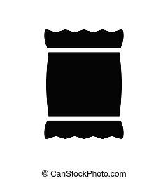sack glyph flat icon