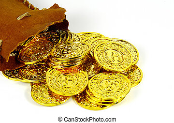 sack, gold