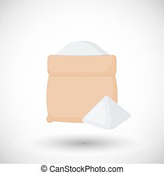 Sack of flour vector flat icon