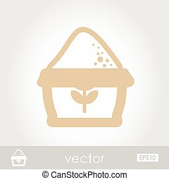 Sack of flour vector icon