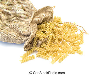 sack of pasta at the white table