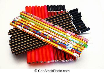 sack of unsharpened pencils