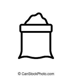 sack thin line icon