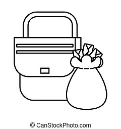sack with envelopes mail postal service