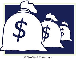 Sack with money