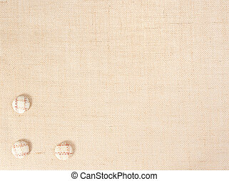 sackcloth baner with buttons as decor. see similar in portfolio
