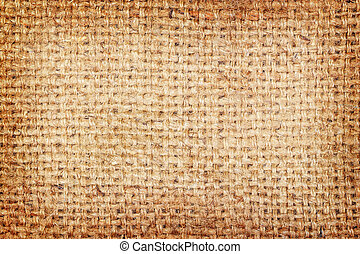 sackcloth brown textured background.