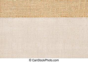 Sackcloth burlap texture, cloth background