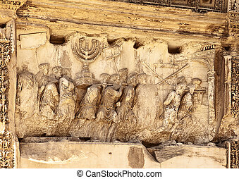 Sacking of Jerusalem - This wall relief on the Arch of Titus...