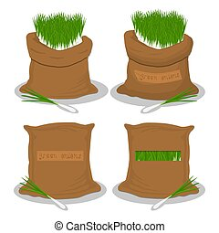 Sacks with natural food - Vector illustration for bags...