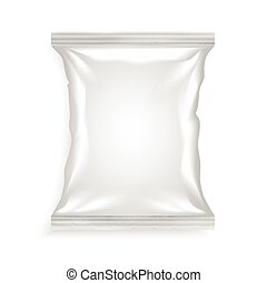 saco, branca, plástico