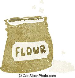 saco, caricatura, farinha
