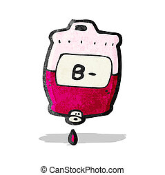 saco, caricatura, sangue