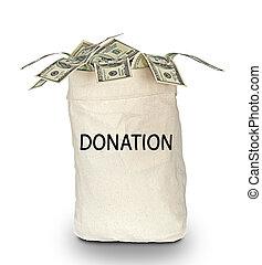 saco, doações