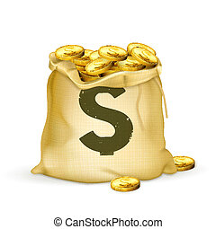 saco, ouro
