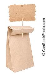 saco, papel, papelão, sinal
