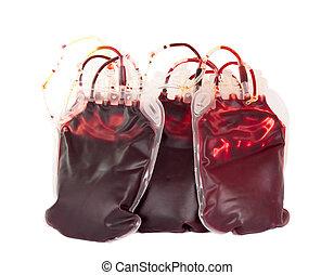 saco, sangue