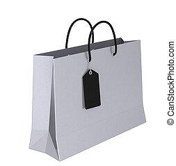 saco, shopping, luxo