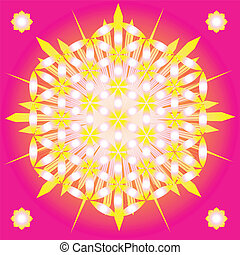 sacré, géométrie, fleur, vie