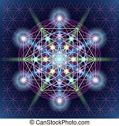 sacré, géométrie, mandala