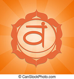 Sacral Chakra - illustration of Sacral Chakra symbol