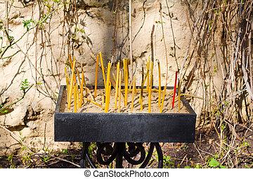 Sacrament commemoration candles