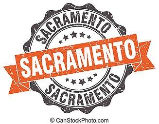 sacramento , στρογγυλός , ταινία , σφραγίζω