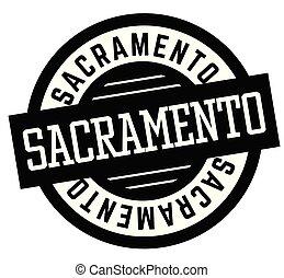Sacramento black and white badge