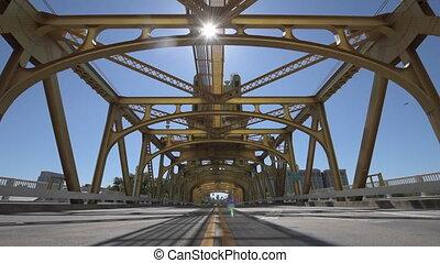 Sacramento California Tower Bridge Dolly Shot