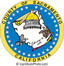 Sacramento county seal - Various vector flags, state...