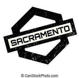 Sacramento rubber stamp. Grunge design with dust scratches....