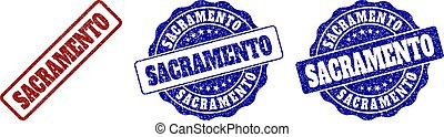 SACRAMENTO Scratched Stamp Seals