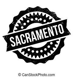 Sacramento stamp rubber grunge