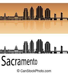 Sacramento V2 skyline in orange
