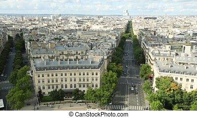 Sacre-Coeur aerial panorama