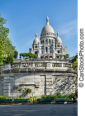 Sacre Coeur Basilica in Paris.