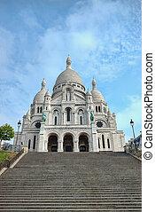 Sacre-Coeur basilica, Montmartre, Paris - Sacre-Coeur...
