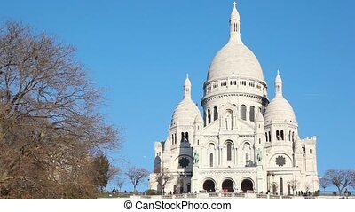 Sacre Coeur Basilica of the Sacred Heart of Jesus Montmartre in Paris, France
