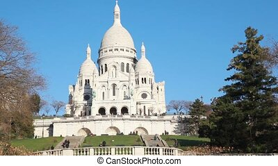 Sacre Coeur Basilica of the Sacred Heart of Jesus Montmartre, Paris, France