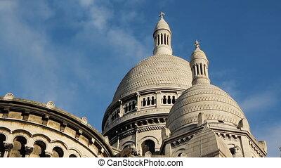 Sacre Coeur Domes. Timelapse.