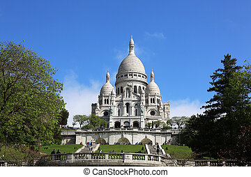 the Basilica of the Sacred Heart of Paris, commonly known as Sacre-Coeur Basilica is a Roman Catholic church and minor basilica, dedicated to the Sacred Heart of Jesus in Paris, France
