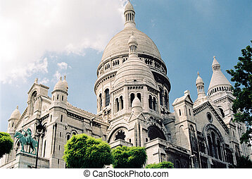 Sacre-Coeur - Sacre Coeur cathedral in Paris, France low...