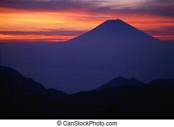 Sacred Fuji - Predawn view of sacred Mt. Fuji