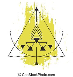 Sacred geometry abstract alchemy symbols.