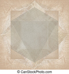 Sacred geometry abstract symbol background, retro styled...